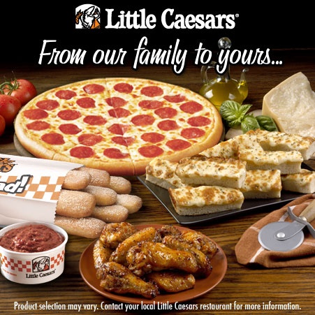 Little Caesars Pizza we eat here atleast twice a month.