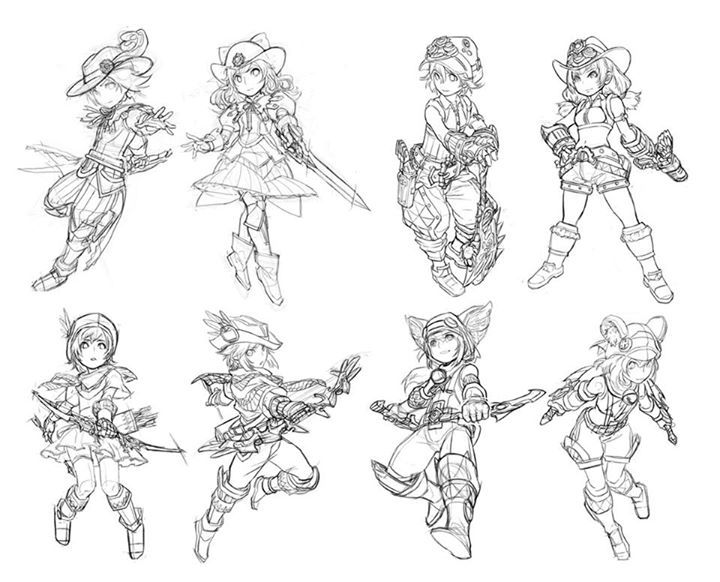 Single Line Character Art : Best images about pose gesture on pinterest chibi