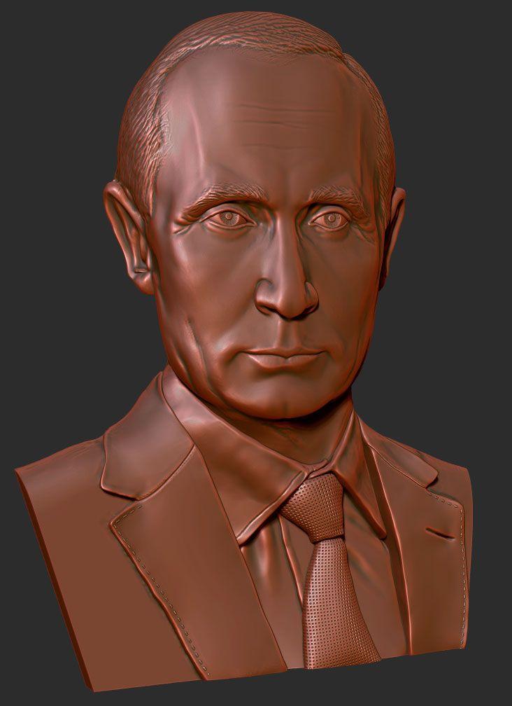 #3D модель рельефа В.В. Путин #ZBrush