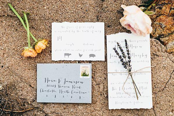 Стильный акцент на каллиграфию в дизайне свадебных приглашений    #wedding #bride #flowers