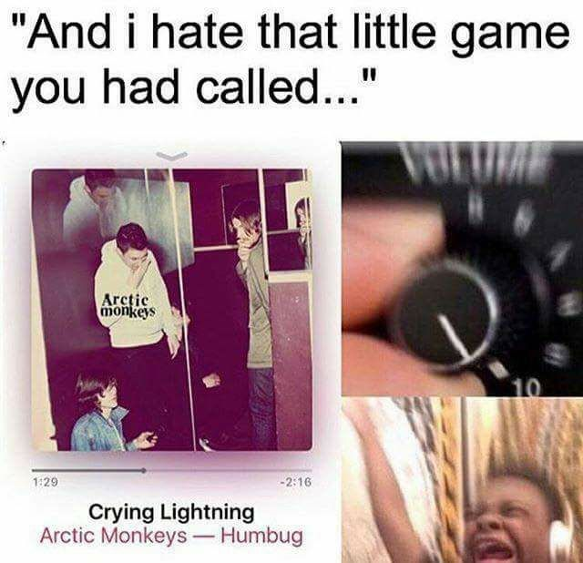Crying Lightning///Arctic Monkeys .... it's funny that I have this pic on pinterest of basically every singer I luv