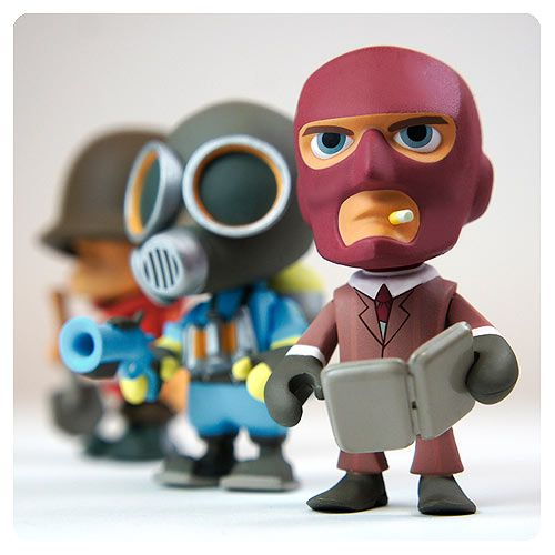 Team Fortress 2 Blind Box 3-Inch Vinyl Figure Display Box - There are Soldiers, Scouts, Engineers, and Spies galore among these Team Fortress 2 3-Inch Vinyl Figures! Collect 15 different figures in this fun line that brings to life your favorite characters from Valve's Team Fortress 2 video game and features the RED and BLU Sentry. Watch for 3 chase...