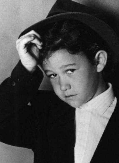 Young Joseph Gordon-Levitt in Black Sports Coat and Black Hat