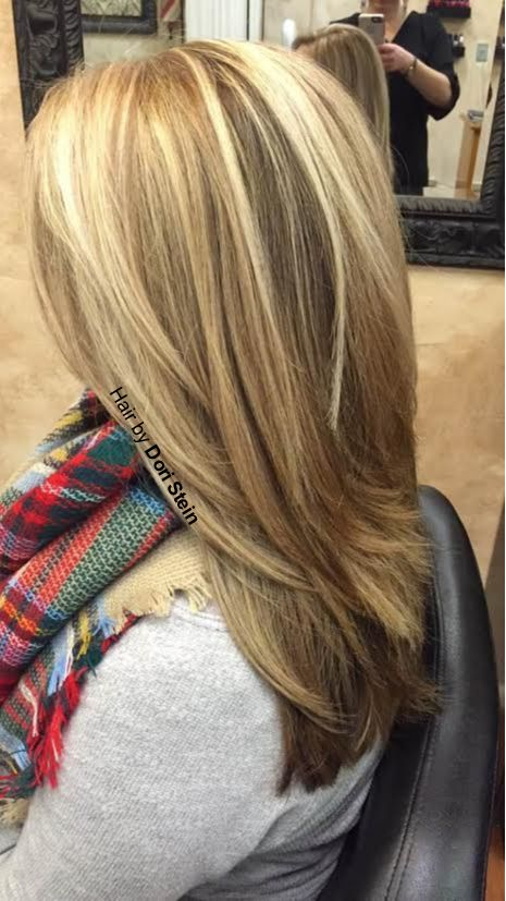 Dark brown low-lights, blonde hair. Perfect blonde highlights and dark brown low-lights. Ombre blonde. Sombre hair. Balayage hair. Bayalage hair color.