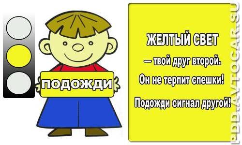 Безопасность на дороге плакаты и баннеры проекта Cветофор желтый