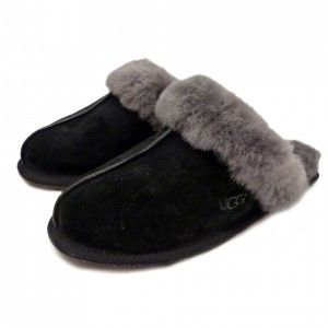 20% Off Designer UGG Australia Scuffette II Grey Slippers. #UGGAustralia #UGG #Slippers #designer #sale #bargain #discount #womensslippers #shoes #fashion #warm