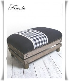 Little bench in black for a boy's room