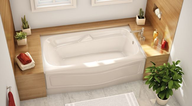 134 best option 4 drop in or decorated side images on for Alcove bathtub dimensions