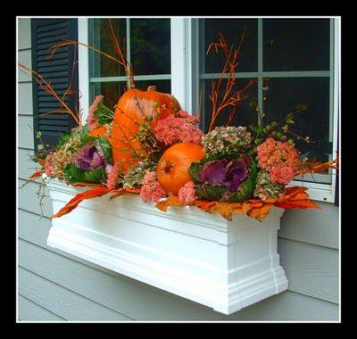 Fall flower box