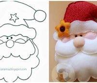 Resultado de imagen para moldes de muñecos de navidad para imprimir