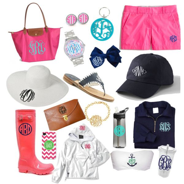 Polyvore Best Friend Pinterest Monogram Preppy And Fashion