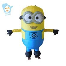 US $49.00 Minion Costumes Adult Inflatable Halloween Cosplay Mascot Carnival Costume Adult Fancy Dress Despicible Me. Aliexpress product