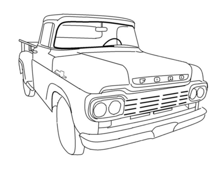 old truck online coloring pages : Printable Coloring Sheet ~ Anbu