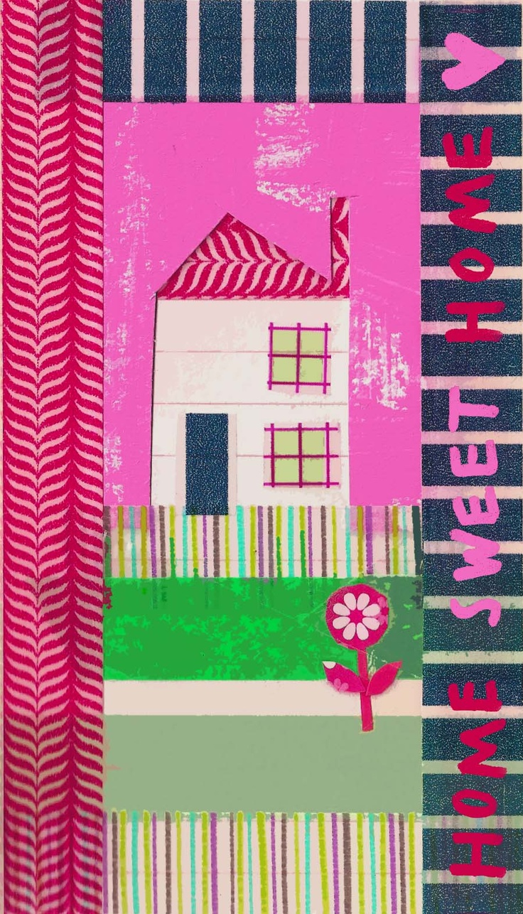 home sweet home: Hogar Dulce Hogar, Heart Houses, Beach House, Illustrations Graphics Design, Building Shapes, Illustrations, Media Houses, Patchwork Houses Buildings