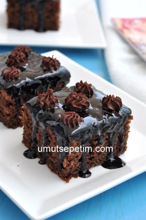 Kahveli cikolata soslu kek
