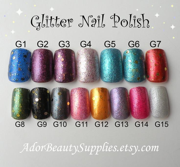 Lux Nail Polish 8 ml Vegan Non Toxic Glitter Polish. $3.50, via Etsy.