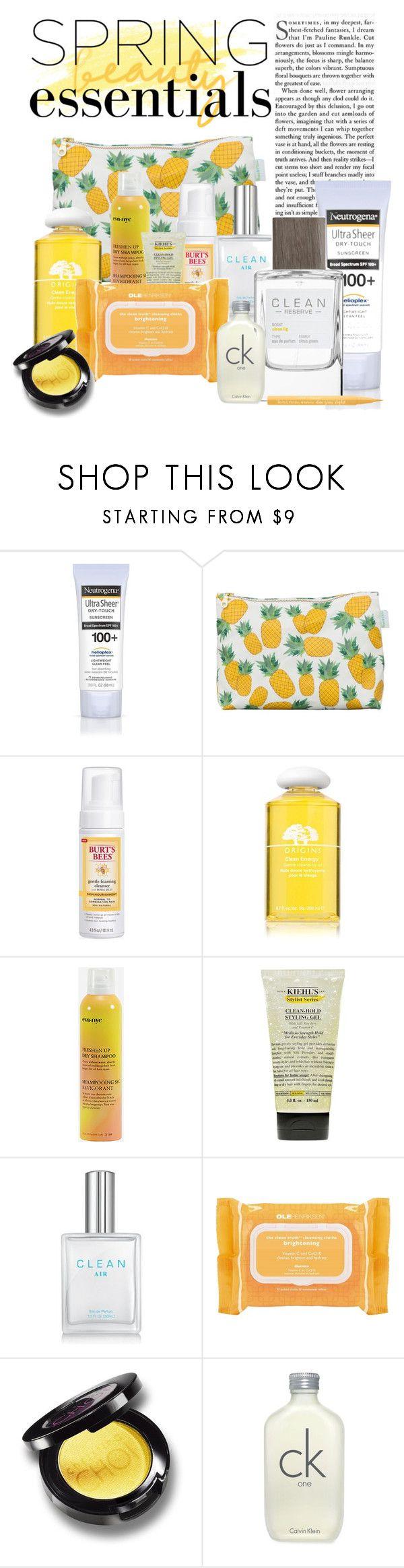 """Spring Clean"" by joyfulnoise1052 ❤ liked on Polyvore featuring beauty, Neutrogena, Rosa & Clara Designs, Burt's Bees, Origins, Eva NYC, Kiehl's, Ole Henriksen, Calvin Klein and Too Faced Cosmetics"