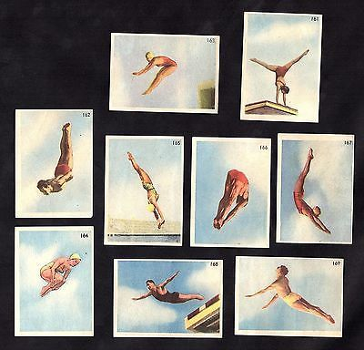 #Helsinki olympic #games 1952 rare #complete 9 card sub set diving swimming sport,  View more on the LINK: 	http://www.zeppy.io/product/gb/2/131437324621/