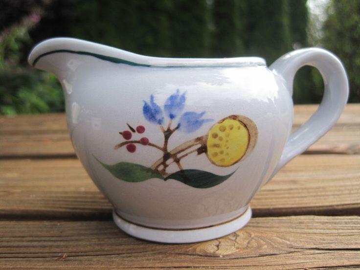 Arabia Finland Vintage Windflower Mini Creamer Blue Yellow Flower Cream Pitcher