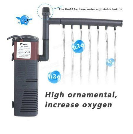 NEW! Aquarium Internal Filter 3-in-1 Multi-function Pump 30 Gallon Fish Tank 120 GPH (450L/H)