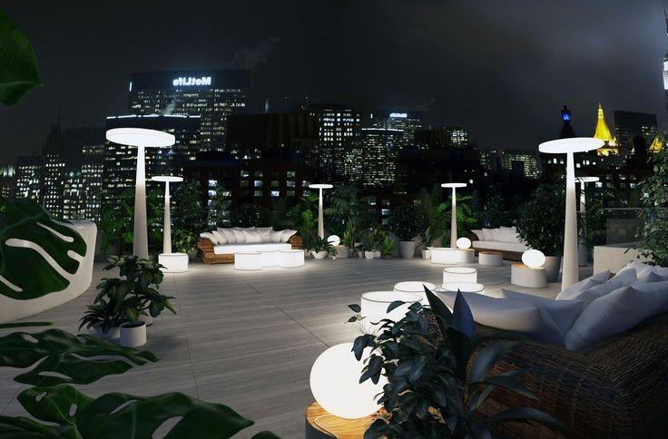 EQUILIBRE stålampe/gulvlampe fra Italienske PRANDINA. Passer like godt utendørs som innendørs!