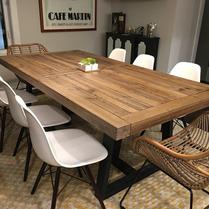 Pin On Rustic Industrial Dining Table Dining Table In Kitchen Modern Farmhouse Dining Large Dining Room Table Rustic wood dining room table