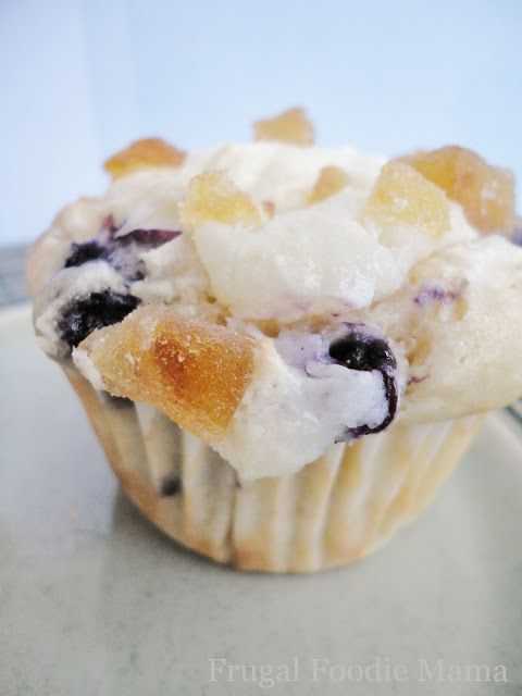 Blueberry Lemon Cream Cheese Muffins, recipe on thefrugalfoodiemama.com #blueberymuffinrecipe #lemon #creamcheese #recipe #muffins