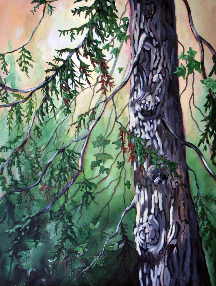 Cedar - West Coast Acrylic Painting