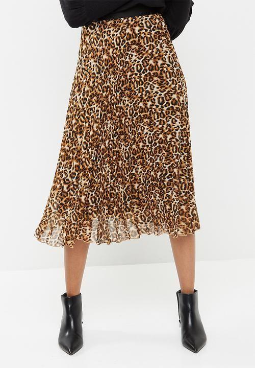 0277029572c8 Sunray pleated midi skirt - animal print dailyfriday Skirts |  Superbalist.com