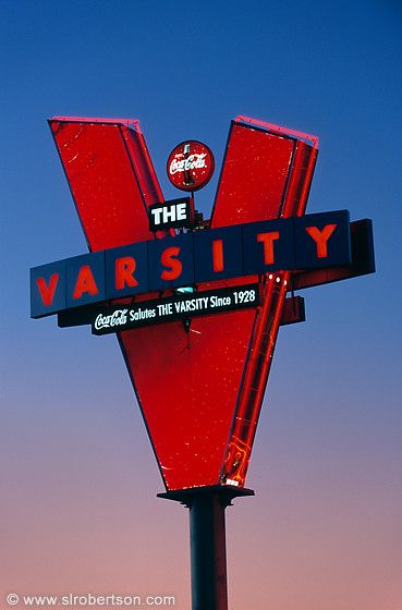 "Drive Thru for a chili dog while you #ridecolorfully The ""V"" - The Varsity Atlanta"