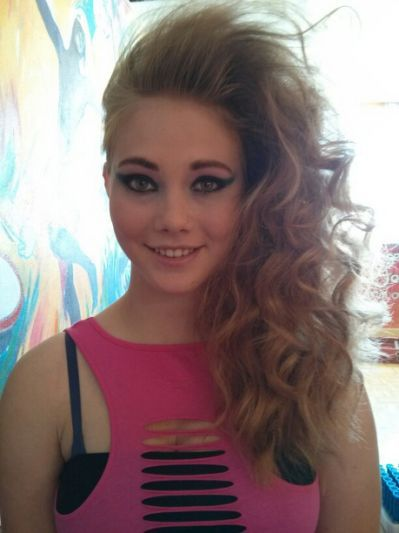 1980s Prom Hair 80s hair and