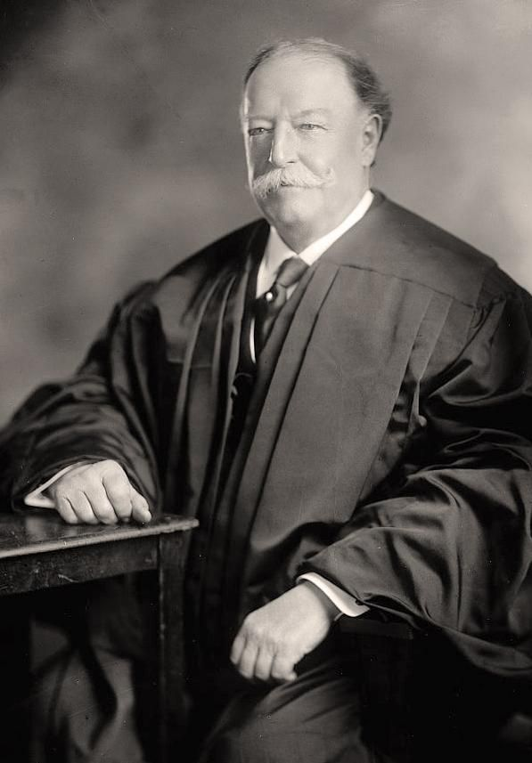 William Howard Taft as Chief Justice of the United States Supreme Court, the job he much preferred to the presidency. Taft is the only American EVER to serve in all three branches of the government.