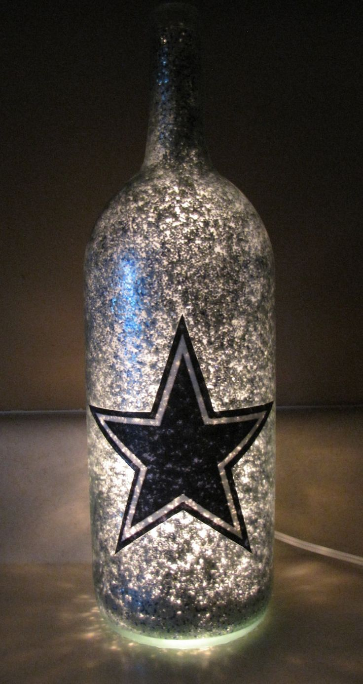 Favorite Football Team Decorative Lighted by UniqueWineBottles, $20.00
