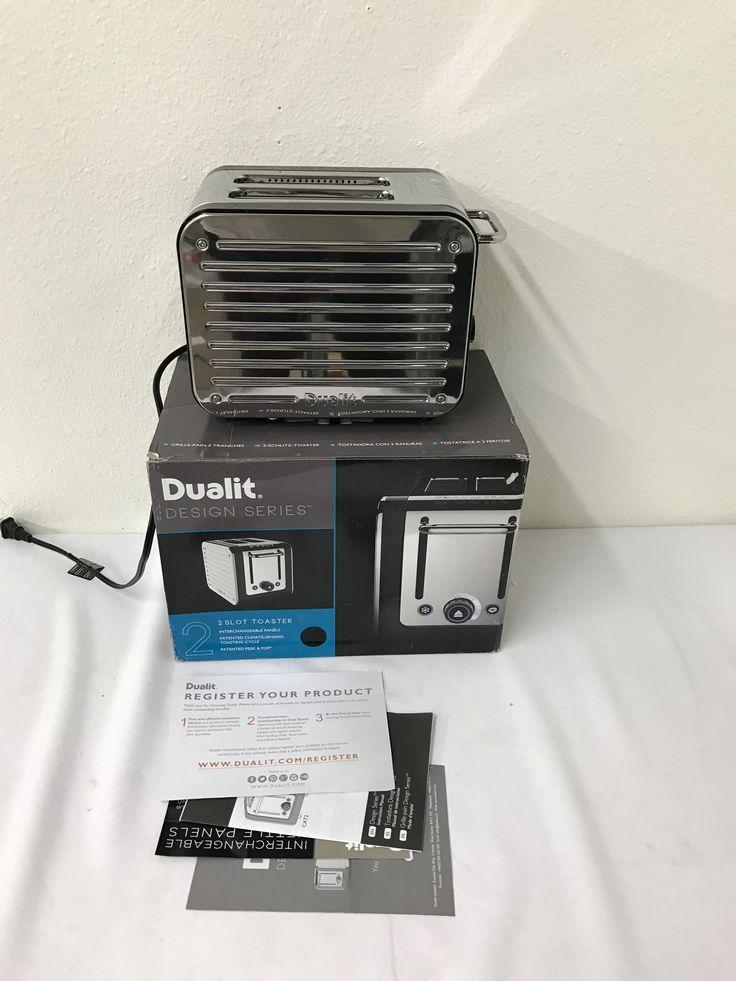 Dualit 26555 2-Slice Design Series Toaster- Black and Steel