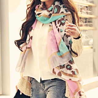 <3 the scarfStyle, Outfit, Scarves, Animal Prints, Girls Fashion, Pastel Colors, Leopards Prints, Accessories, Scarf
