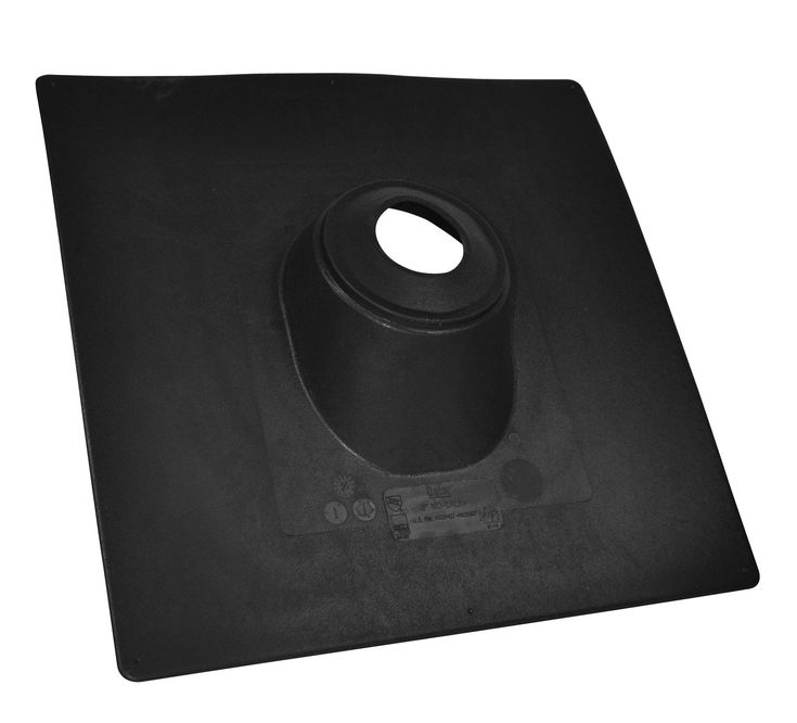 "Oatey 11889 No-Calk Base Roof Flashing, 18""x18"", Thermoplastic"