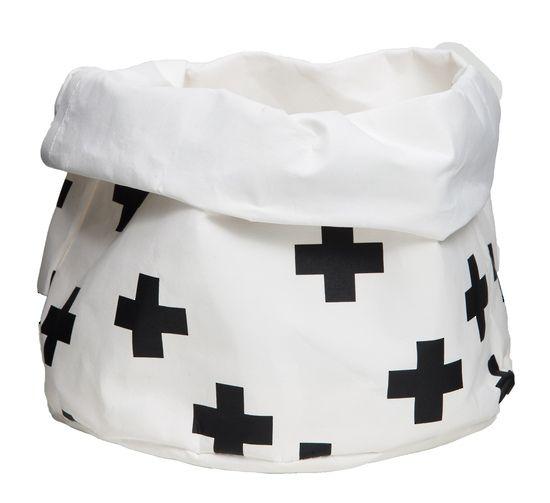 Storage bag black cross medium