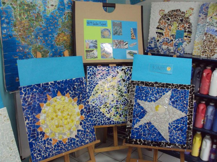 students created a range of mosaic murals featured around the school when they learned about gaudis mosaics. (ACG Jakarta)