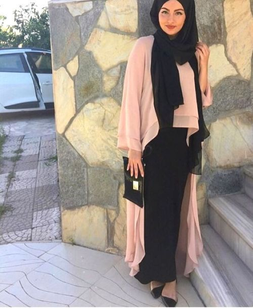 blush pink abaya cardigan