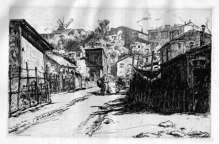 Le Maquis (Montmartre) - Paris - Près de l'entrée nord de la rue Caulaincourt (mai 1903)