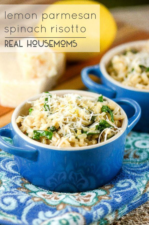 Lemon Parmesan Spinach Risotto | Real Housemoms