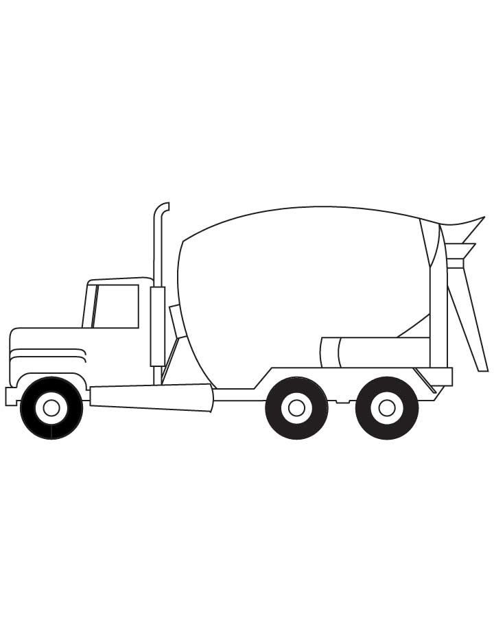 cement truck coloring pages