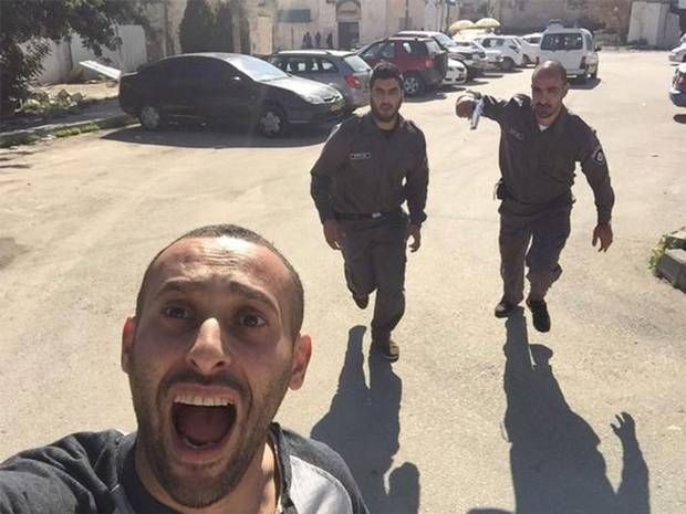 Palestinian man's selfie while 'running away from the Israeli military' isn't quite what it seems - Middle East - World - The Independent