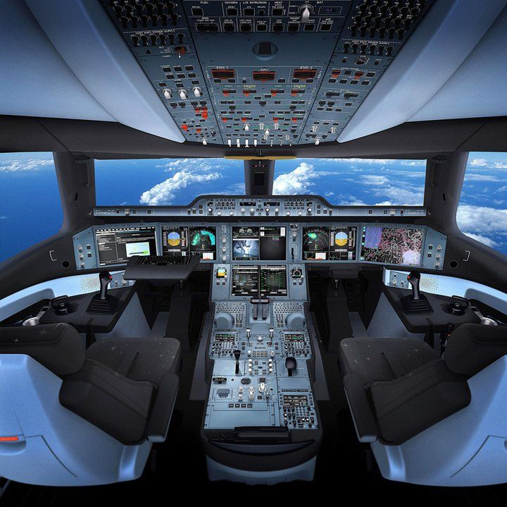 The Cockpit of Airbus'A350 XWB is The most technologically and ergonomically advance the world has ever seen.