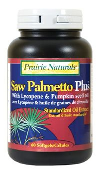 Saw Palmetto is low, scrubby palm tree bearing a fruit that has long been used as an aphrodisiac and sexual rejuvenator that tones and strengthens the male reproductive system. Scientific studies have shown that an extract of saw palmetto berries produce increased urinary flow, reduced residual urine and decreased frequency of urination in patients suffering from BPH. Prairie Naturals SAW PALMETTO+Lycopene is an excellent addition to every man's health regime.