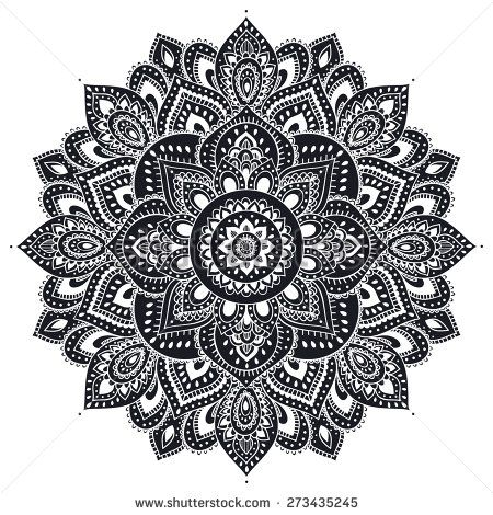 Beautiful Indian floral ornament can be used as a greeting card | Arts ...