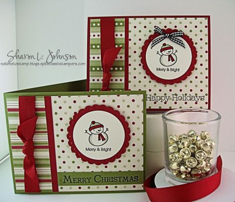 like the simple layout. Could use lots of different stamps & sentiments