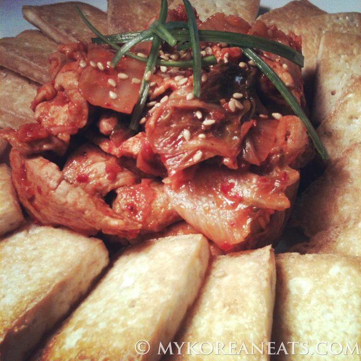 Dubu Kimchi 두부 김치 (Tofu w Sauted Kimchi) - MYKOREANEATS