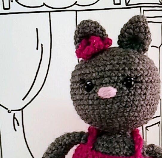 Kitty Doll Kiara Kitty ballerina amigurumi doll 10in plush