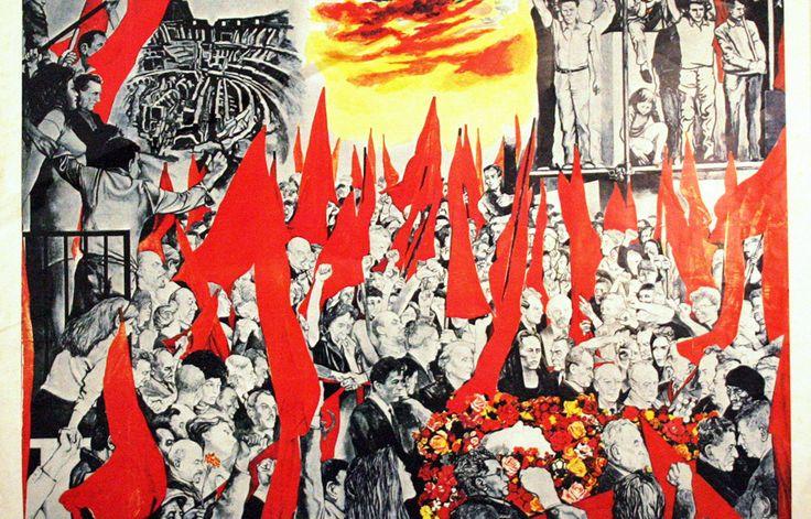 Guttuso, I Funerali di Togliatti, 1972 - CoSA | Contemporary Sacred Art